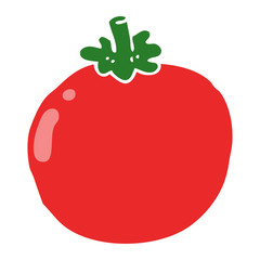 flat color style cartoon tomato