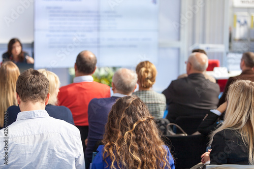 Wall mural Business or professional conference