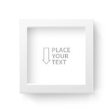 White box frame for logo or text. Vector illustration