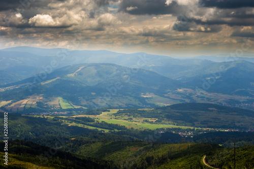 Krajobraz Beskidów śląskich