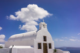 A small church in the village of Oia on the island of Santorini Greece