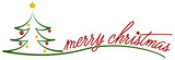 christmas tree symbol illustration with words merry christmas