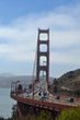 Golden gate bridge, tower structure, San Francisco,  suspension, steel, landmark, USA, poster, print, California, road bridge, travel, sky.,cars, road, transportation