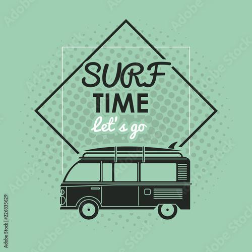 Fototapeta Tropical surfing lifestyle theme