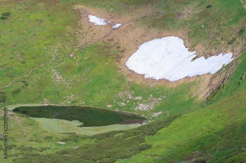 Lake Nesamovite. Carpathian Mountains. Ukraine
