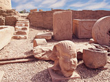 Fragments of excavations of antiquities near the temple of Hathor at Dandara.