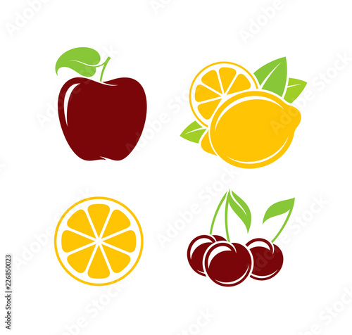Fruit. Vector illustration - 226850023