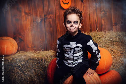 skeleton boy at halloween © Andrey Kiselev