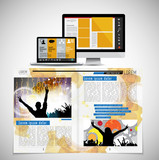 Template vector design ready for use for brochure, annual report or magazine - 226856024