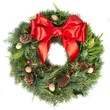 Christmas Wreath Isolated on White - 226859004