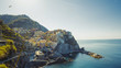 Wonderful view of the morning of Manarola. Manarola is a small town in the province of La Spezia, Liguria, northern Italy - 226861847