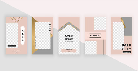 Fashion templates for stories. Modern cover design for social media, flyers, card.