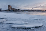 Savonlinna castle at the winter. Finland  - 226875806