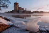 Savonlinna castle at the winter. Finland  - 226875837