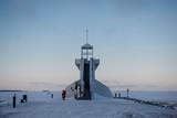 Nallikari Lighthouse in winter. Oulu, Finland - 226876017