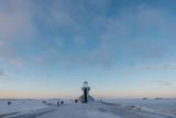 Nallikari Lighthouse in winter. Oulu, Finland - 226876042