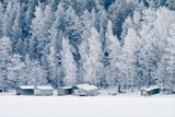 winter landscape with solitude house - 226878264