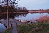 Boats on a lakeside.   - 226878895