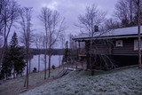 Countryside house in a frozen forest - 226879053