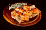 Salmon kebab shashlik