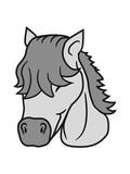 reiterin liebe glücklich stute hengst cool pferd pony reiten gesicht kopf mädchen comic cartoon clipart