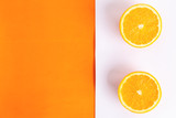 orange fruit in colorful background