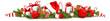 Weihnachtsschmuck mit Geschenken, Lebkuchen, Nikolaus Mütze, Weihnachtskugeln und Tannenzweige - Banner - 226913668