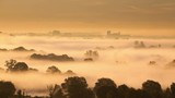 Time lapse of rolling mist looking towards Reading from Whitchurch Hill, Berkshire, England, UK. - 226931818