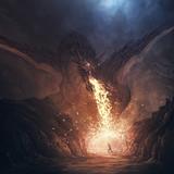 Dragon breathing fire