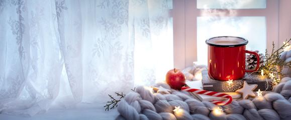 winter holiday window decoration © powerstock