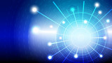 Abstract blue light and shade creative technology background. Vector illustration. - 226974048