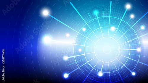 Sticker Abstract blue light and shade creative technology background. Vector illustration.