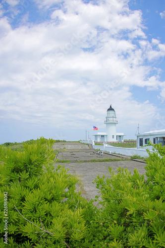 Cape Santiago Lighthouse, Gongliao District, New Taipei City, Taiwan. - 226984042