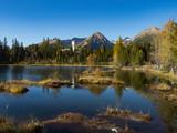 Mountain lake Nove Strbske pleso in National Park High Tatra, Slovakia, Europe