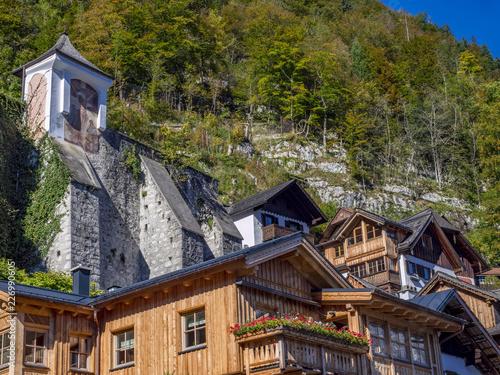Wieś Hallstatt, Austria, Europa