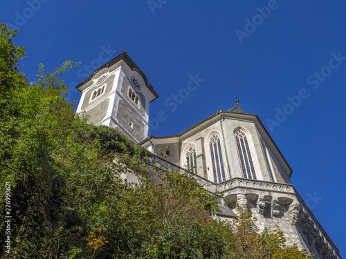 Catholic Church in Hallstatt, Salzkammergut, Austria, Europe - 226990621