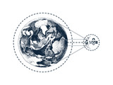 Hand drawn Earth and Moon - 226997050