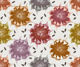 Seamless pattern with hand drawn sunflowers - 226997244