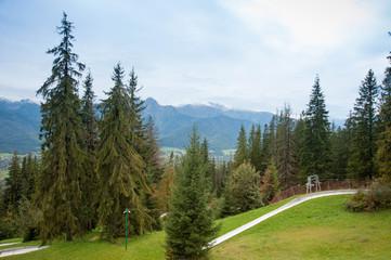 View on Zakopane Tatras Mountains from Gubalowka, Poland 2018
