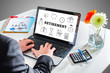 Quadro Retirement concept on a laptop screen