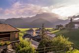 Beautiful village of Sauris di sopra in the mountains, italian dolomites.