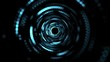 Science tunnel background texture. Animation of futuristic fantasy technology. Space travel backdrop.