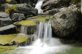 small waterfall in mountains - 227034289