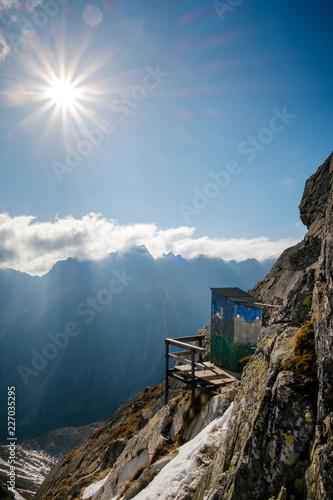 Amazing and unique mountain toilet near Rysy in Slovakia