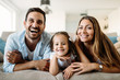 Quadro Happy family having fun time at home