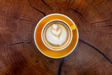 Coffee. Cappuccino. Good morning concept. Cup of coffee with milk - 227039883
