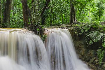 low speed shutter image of Huay Rua Waterfall