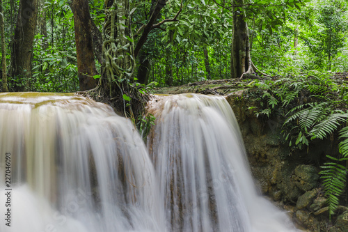 low speed shutter image of Huay Rua Waterfall - 227046098