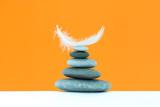 Spa stones treatment scene, zen like concepts. Spa background. - 227079421
