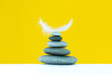 Spa stones treatment scene, zen like concepts. Spa background. - 227079447
